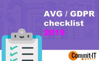GDPR / AVG anno 2019 | Checklist & actieplan